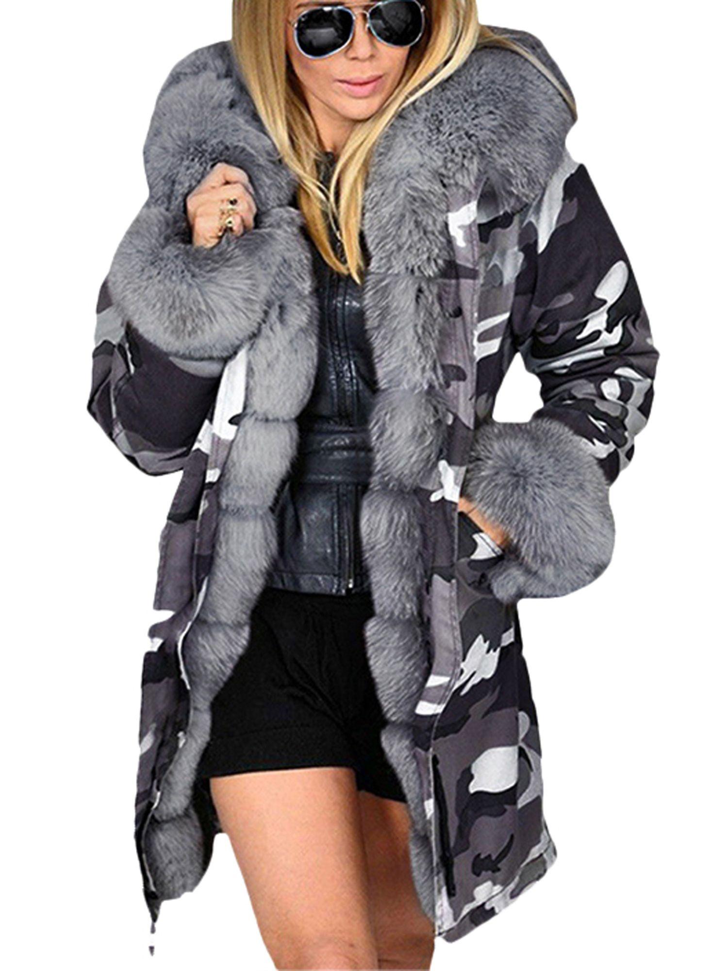 Lallc Women S Cardigan Parka Fleece Thick Warm Winter Hooded Midi Outerwear Coats Walmart Com In 2021 Winter Coats Women Winter Fashion Outfits Womens Cardigan [ 2000 x 1500 Pixel ]