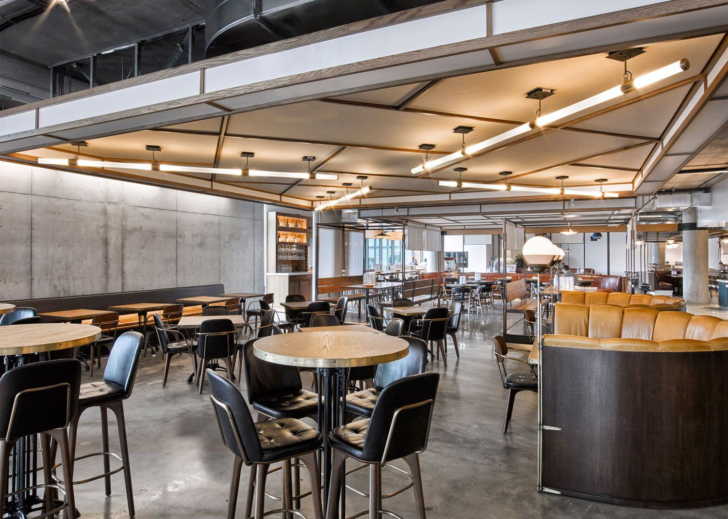 avroko designs a workplace cafeteria for dropbox. | cafe