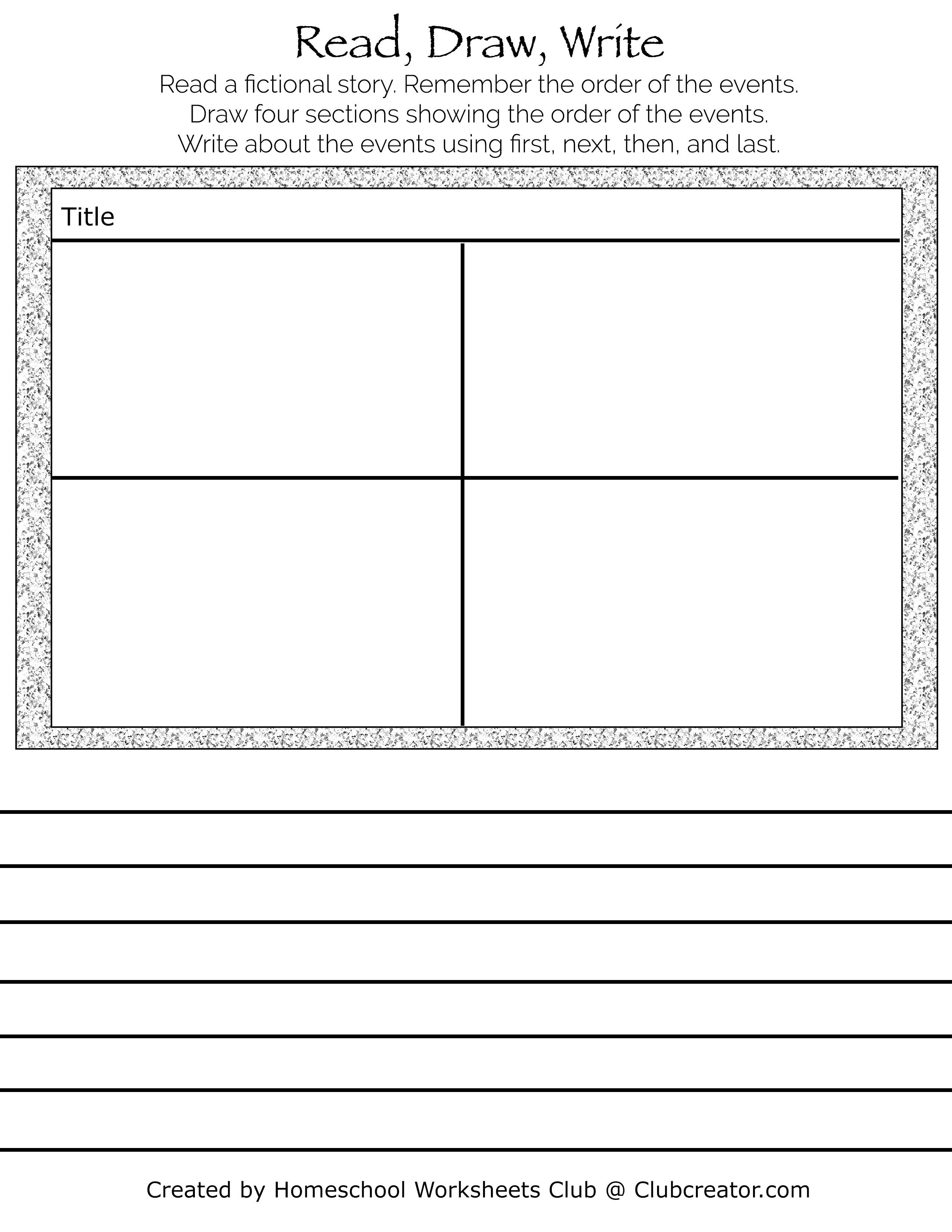Sequence Of Events Worksheet Book Response Homeschool Worksheets Sequence Of Events Worksheets