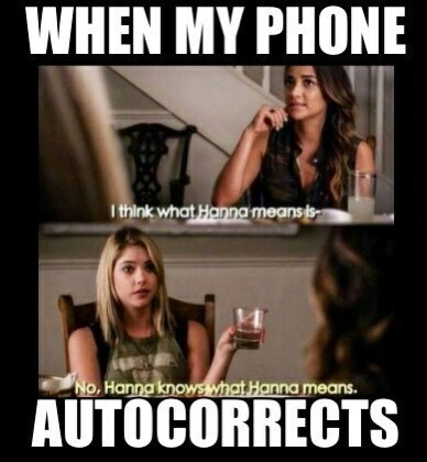 When your phone auto corrects