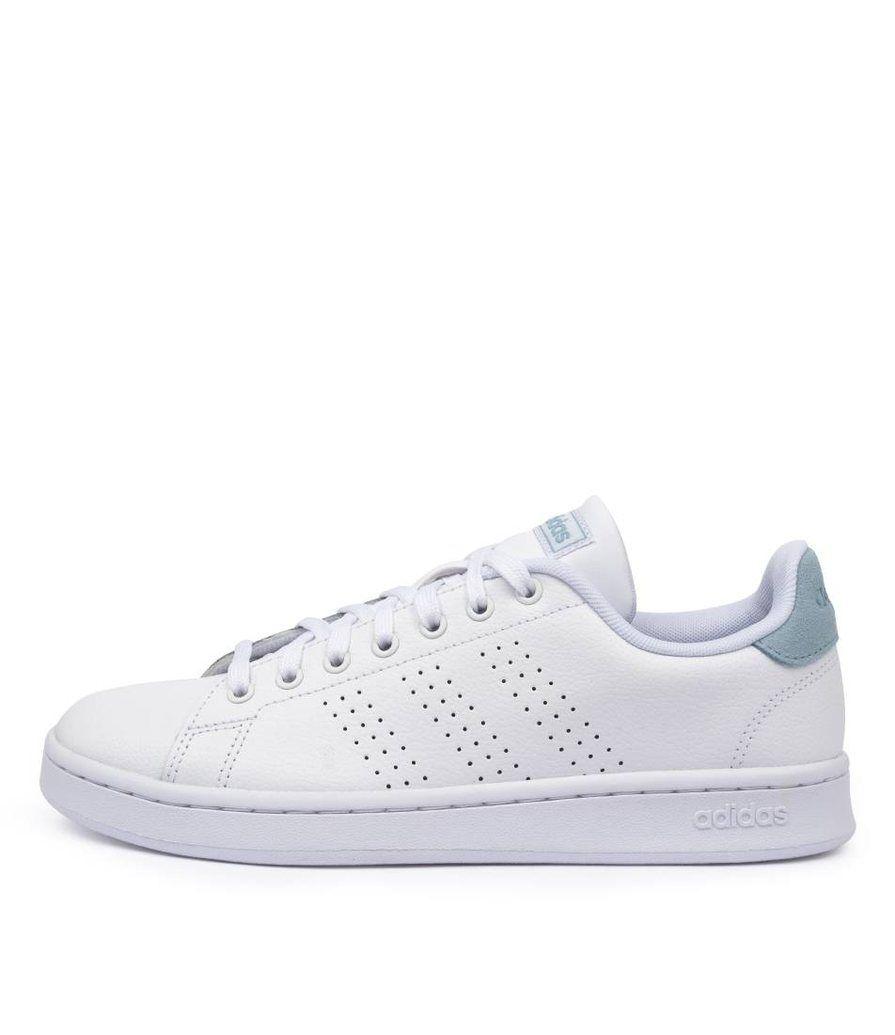 adidas advantage w white-blue white