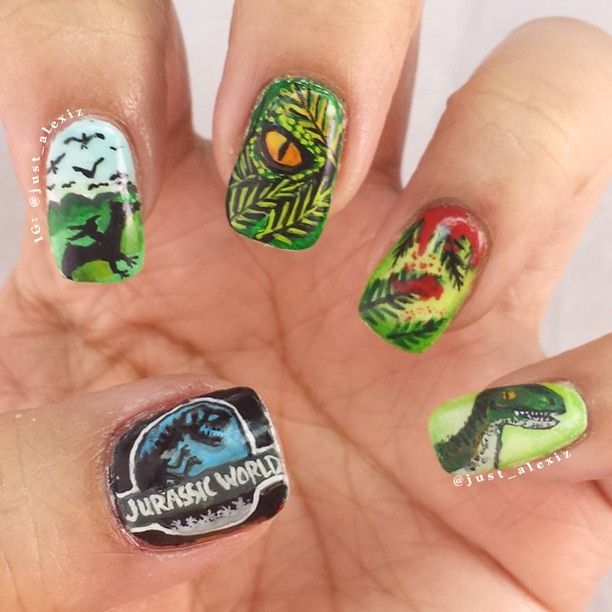 Jurassic World Nails | Nails | Pinterest | Makeup, Crazy nail art ...