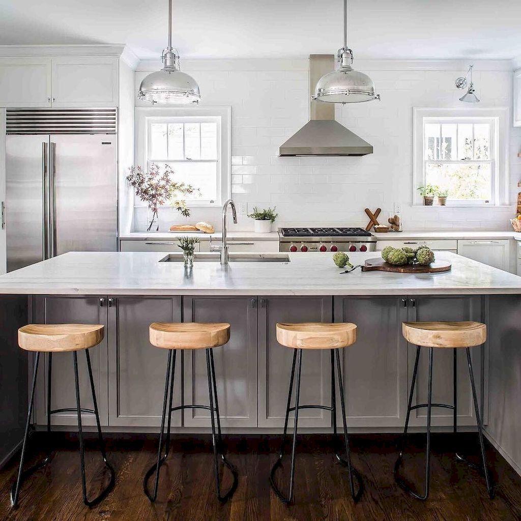 Gorgeous gray kitchen cabinet makeover ideas grey kitchen