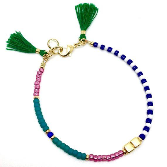 Multicolor pulsera borla de Dama de honor Bohemia pulsera