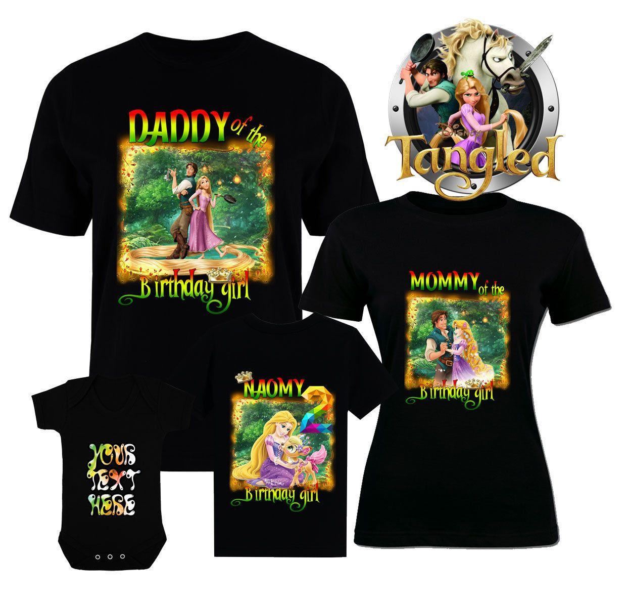 Birthday Disney Shirts Tangled T Shirt Family Rapunzel Flynn Rider Pascal Tee Maximus By