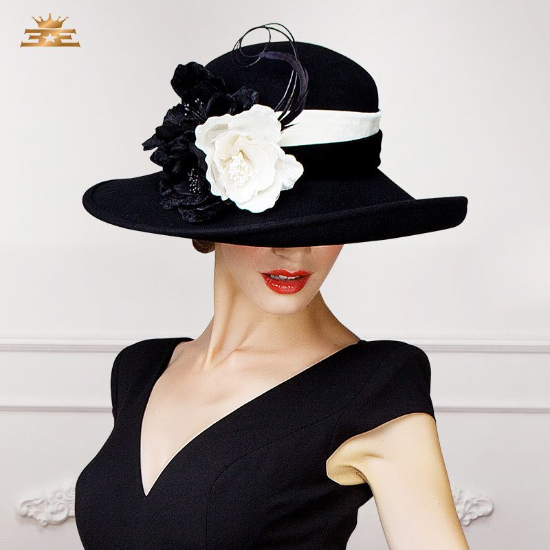 93a7b2fd891 2015 New Winter big flowers hat. fancy hats for high tea for winter pattern  for making - Google Search