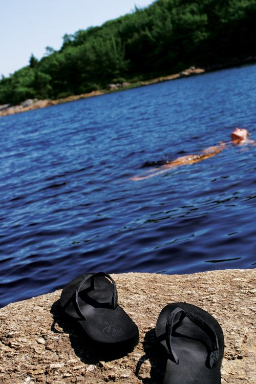 Let's go swimming into the lake <3
