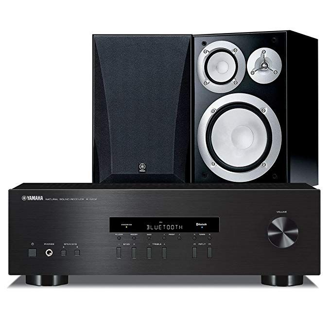 Yamaha NS 6490 Bookshelf Stereo Speakers With R S202 Receiver Review