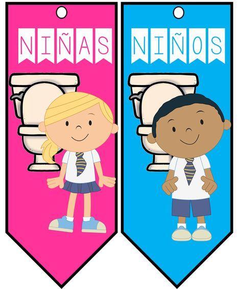 Pase De Bano Nina Nino Material Educativo Actividades Escolares