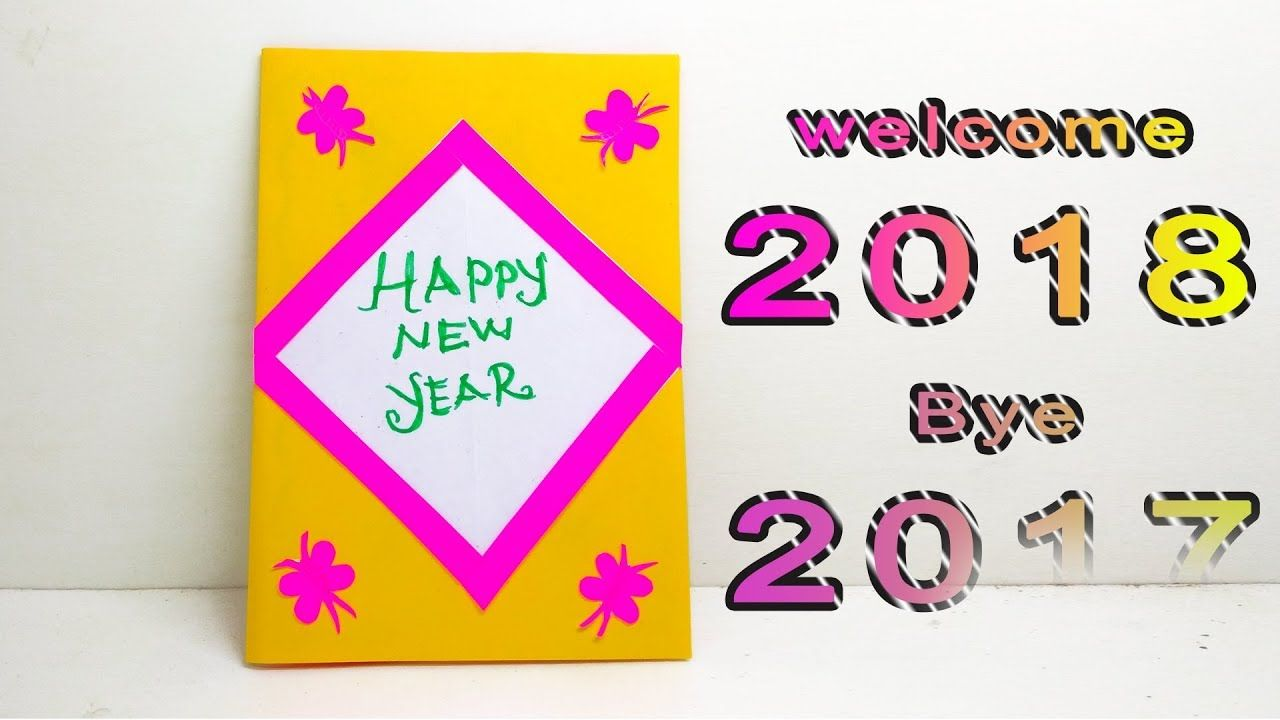 How To Make Happy Newyearcard Handmade Greetingcard For New