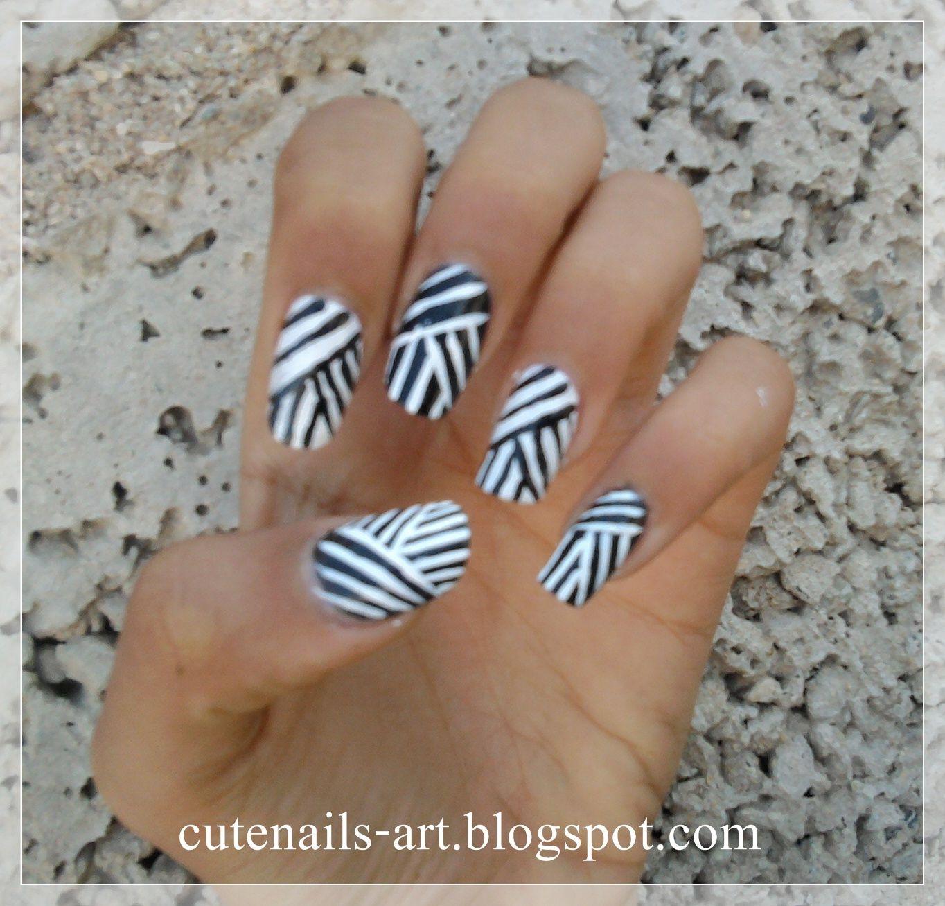 black nail art | cutenails-art | Nail Couture | Pinterest | Black ...