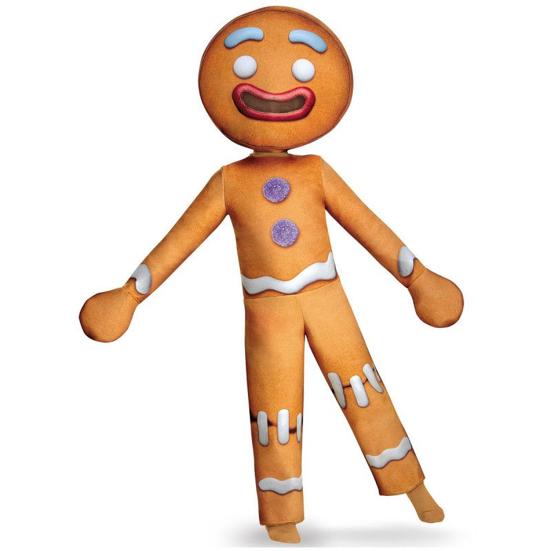 Gingy The Gingerbread Man Full Soft Costume From Shrek Movie Kids Costumes Boy Costumes Deluxe Halloween Costumes
