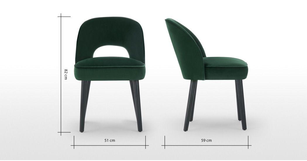 Set Of 2 Rory Dining Chairs Pine Green Velvet Dining Chairs Dining Room Chairs Modern Green Chair
