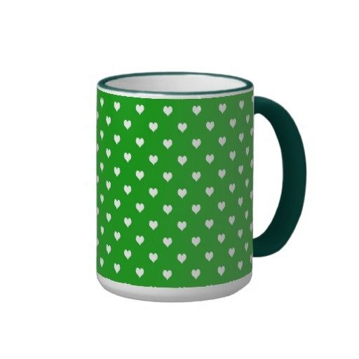 White Hearts on Green Coffee Mug Turn your metabolism back in to a calorie Burning Machine #Trial