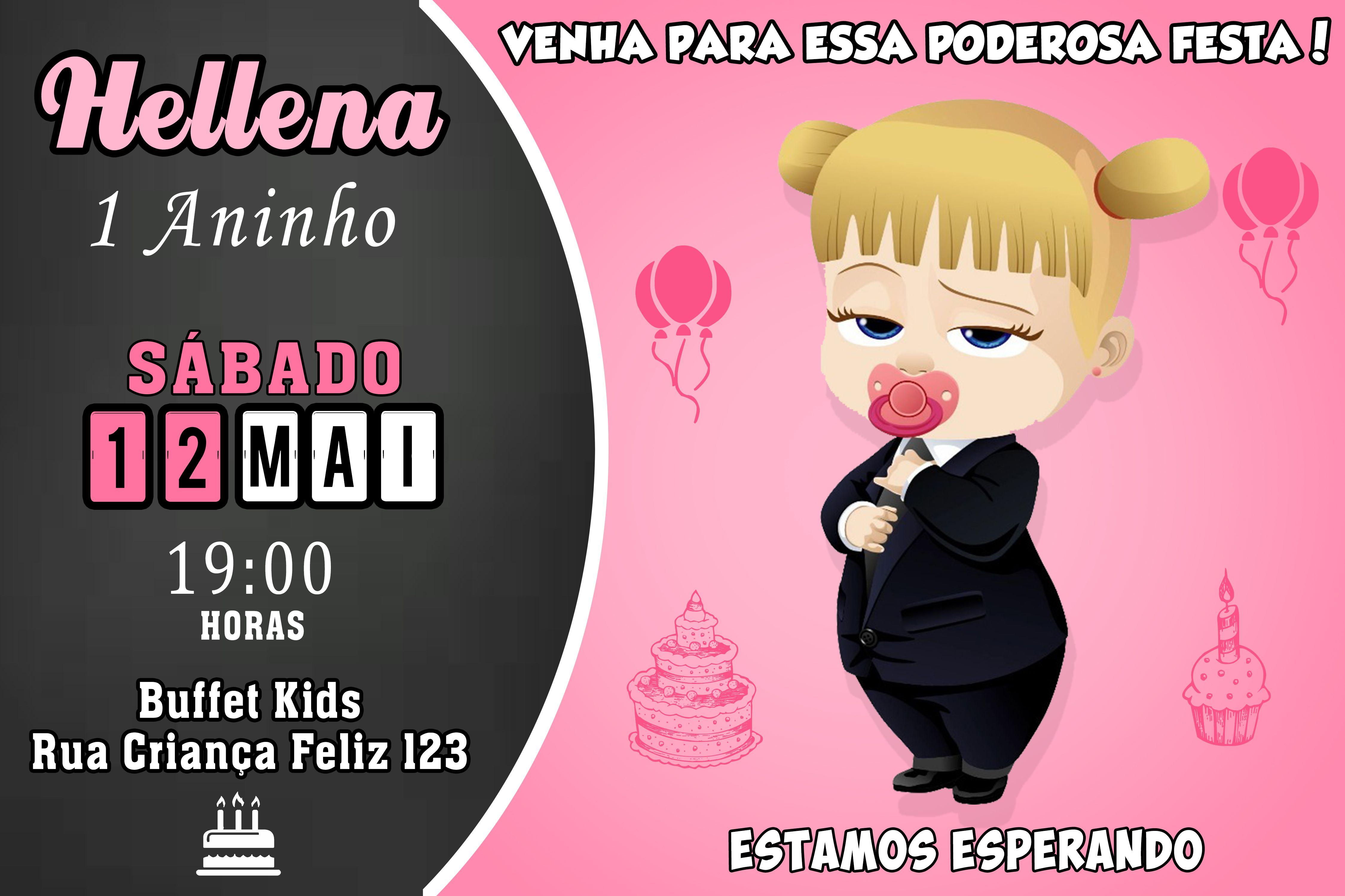Convite A Poderosa Chefinha Digital Convite Convite Aniversario