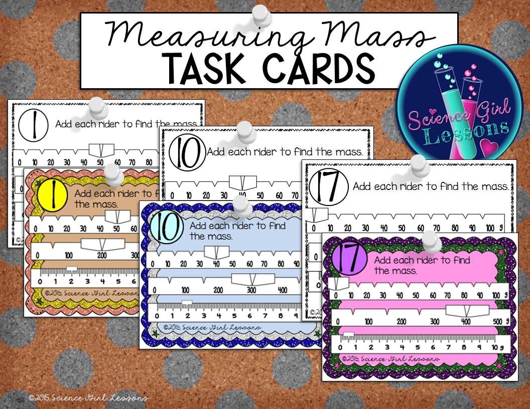 Measuring Mass Task Cards Reading A Triple Beam Balance