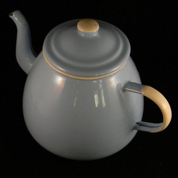 Emalia Olkusz Baby Blue Teapot Tea Pots Enamel Teapot Baby Blue
