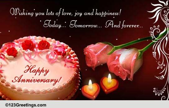 A Lovely Anniversary Ecard To Express To Wish Your Favourite Couple Happy Marriage Anniversary Wedding Anniversary Wishes Anniversary Wishes For Wife