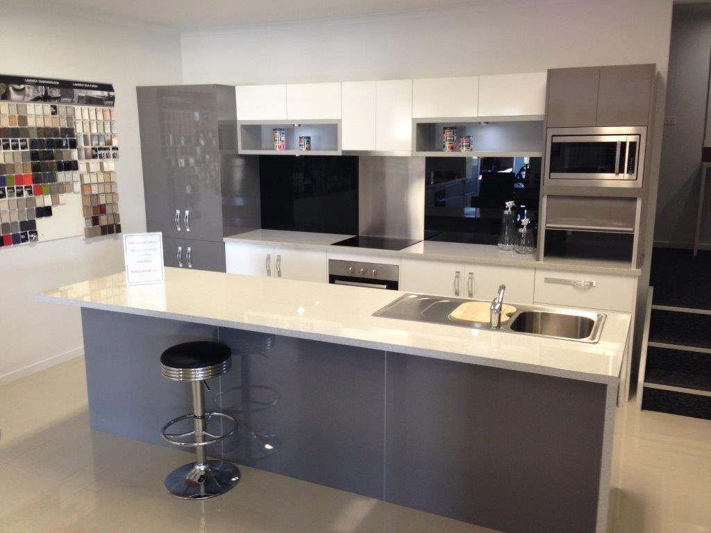 Grey Modern Kitchen Design Oppein Light Grey Modern Kitchen Design Oppein Tasmania Showroom