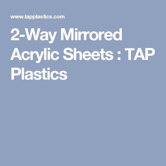 Two-Way Mirrored Acrylic Sheets | Mirrors | Acrylic mirror
