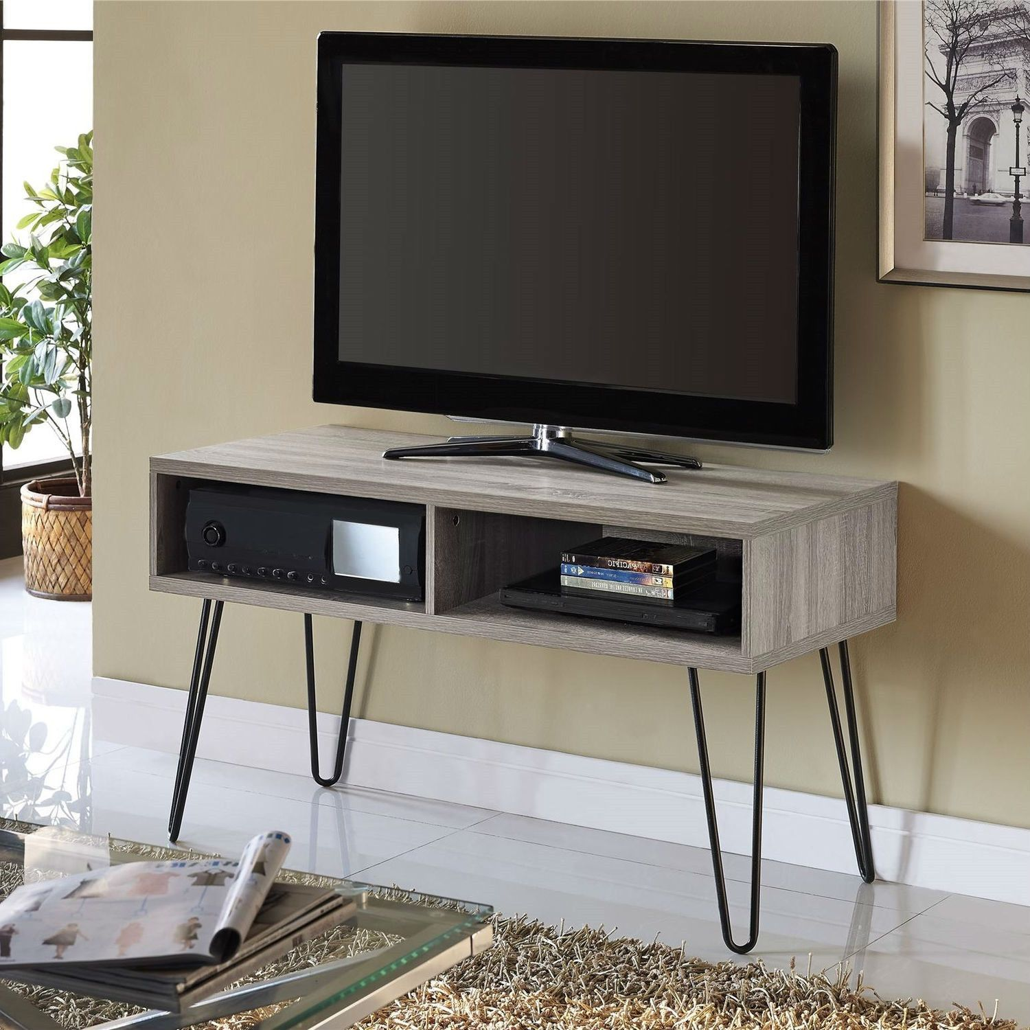 Retro Style Modern Classic Tv Stand With Hairpin Legs Petit Meuble Tv Petit Meuble Meuble