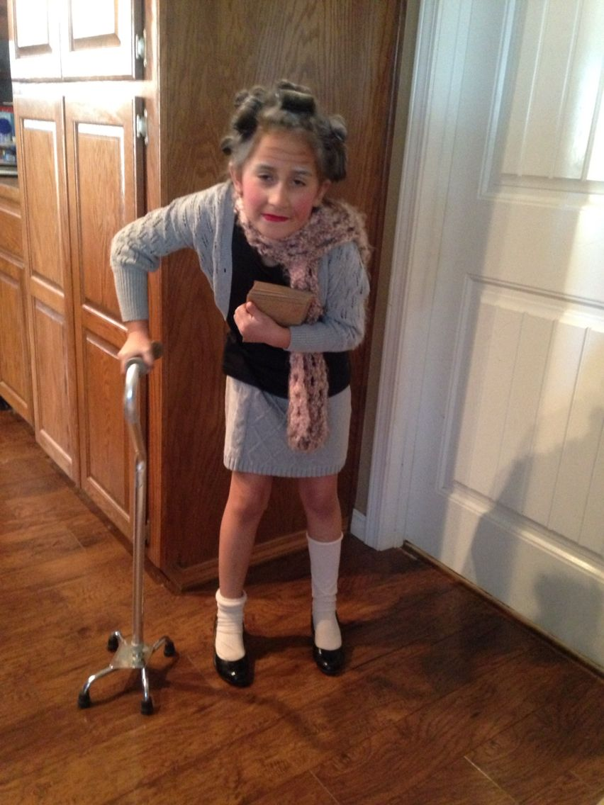 Kids 100 Year Old Costume Idea for 100th day of school