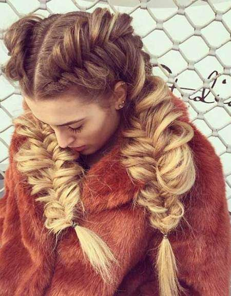 Fishtail Hairstyle Pleasing 20 Creative Fishtail Braid Hairstyles  Shorts Fishtail And Beautiful