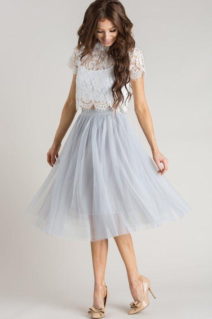 Skirt 2019 Grey Pinterest Tøj Eloise Tulle Midi I qw8BvaU