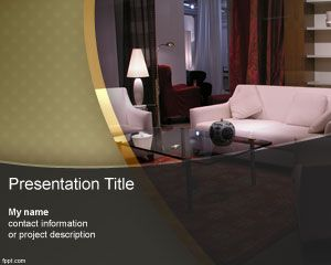 Furniture Powerpoint Template Is A Free Powerpoint Template Background For Furniture Presentations Or Presentations On Architecture