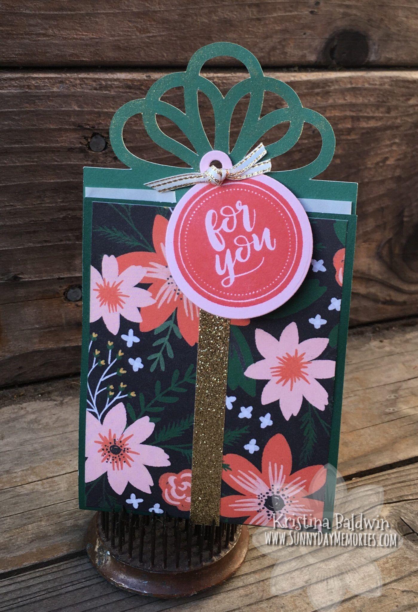 Cricut artiste holiday gift card holder holiday gift