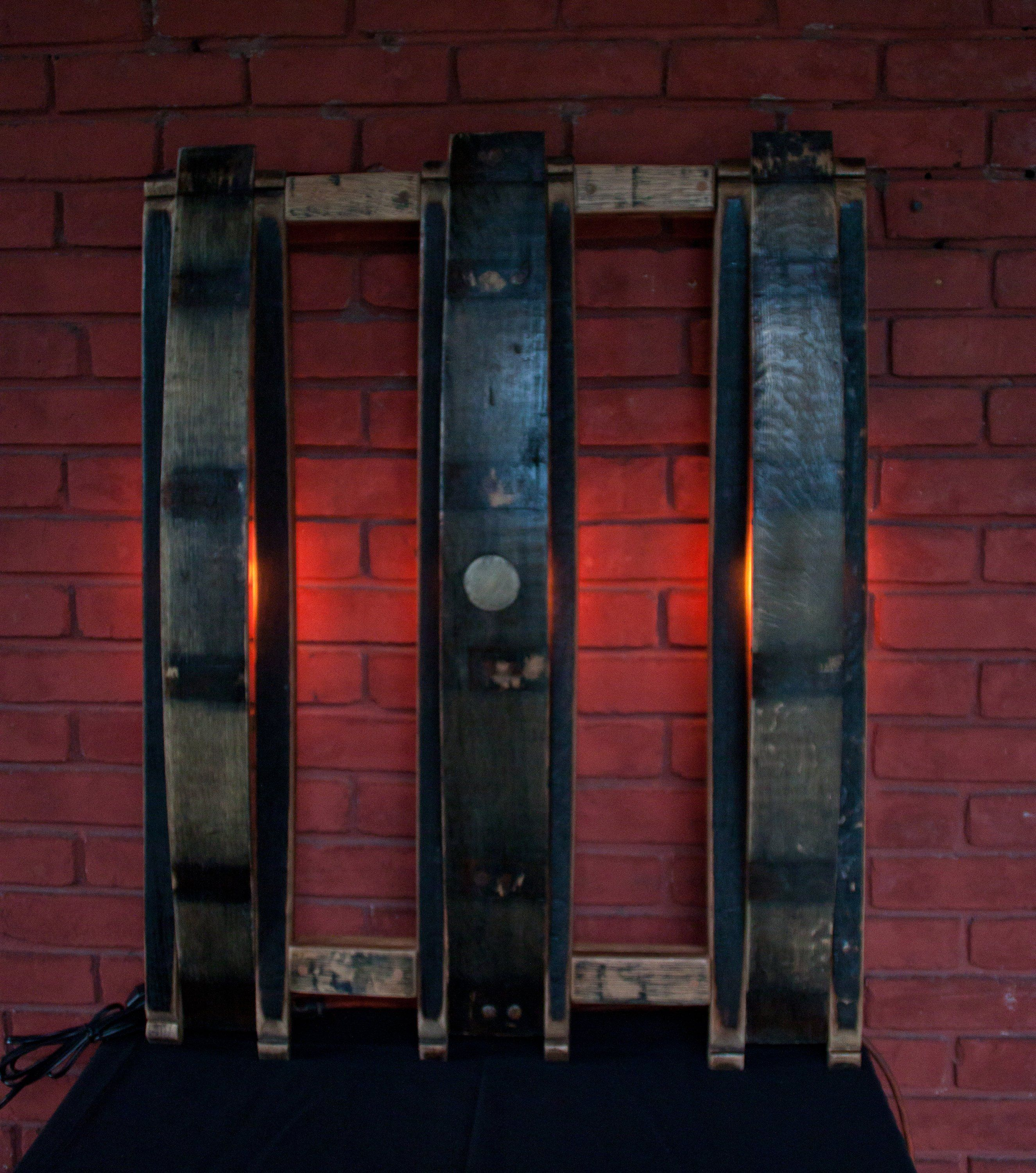 Excited To Share The Latest Addition To My Etsy Shop Kentucky Bourbon Barrel Stave Wall Light Trio With Kentucky Bourbon Barrels Barrel Stave Bourbon Barrel
