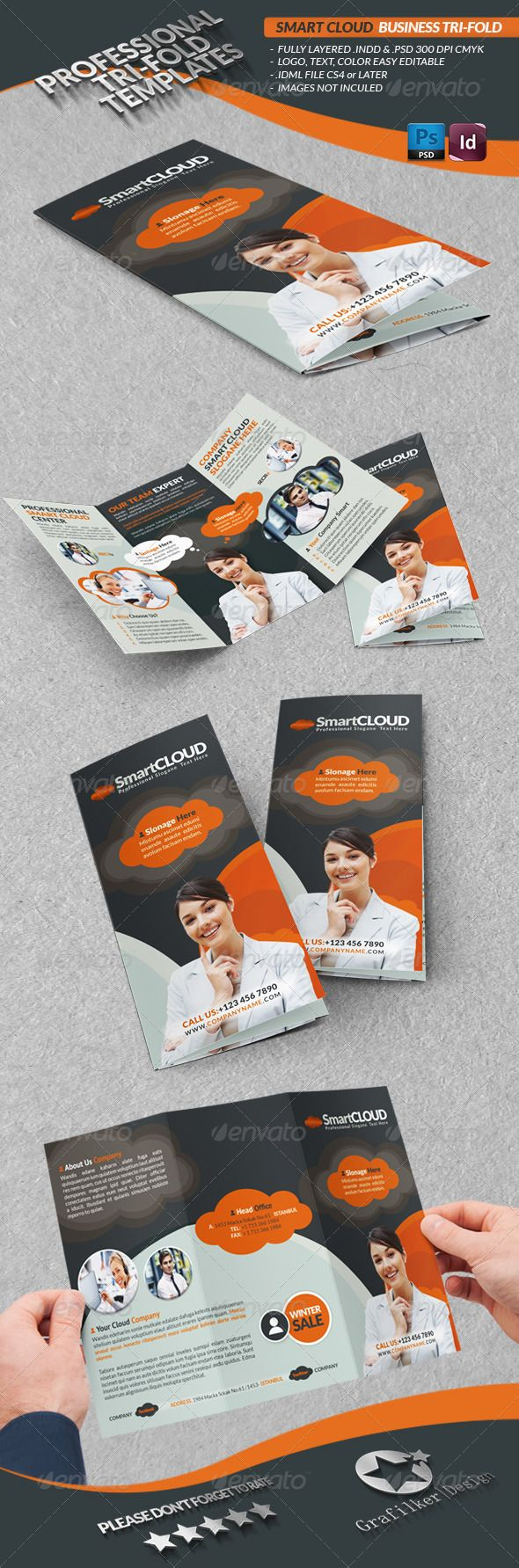 Smart Cloud Business TriFold Trifold, Trifold brochure