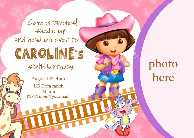 Dora the explorer birthday invitation. Digital by neildigiprints ...