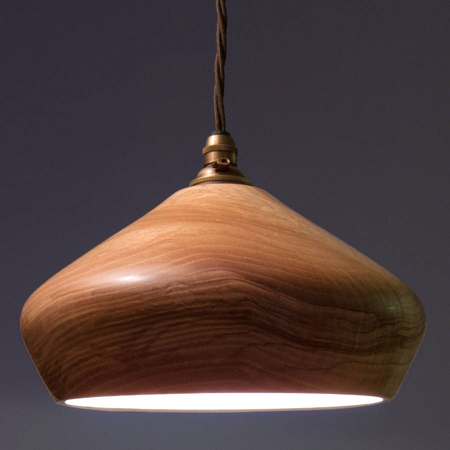 Soft Close Wooden Ceiling Pendant Light | Pendant lighting, Woods ... for Turned Wood Lamp Shade  269ane