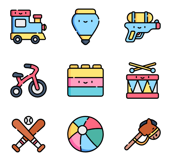 50 Free Vector Icons Of Children Toys Designed By Freepik Children Toys Design Cool Doodles Cute Doodles