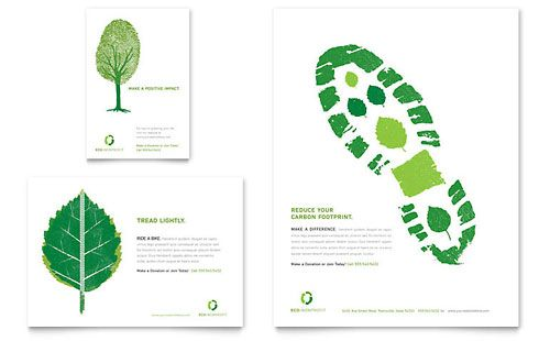 Environmental Non Profit Flyer \ Ad - Word \ Publisher Template - microsoft word template flyer