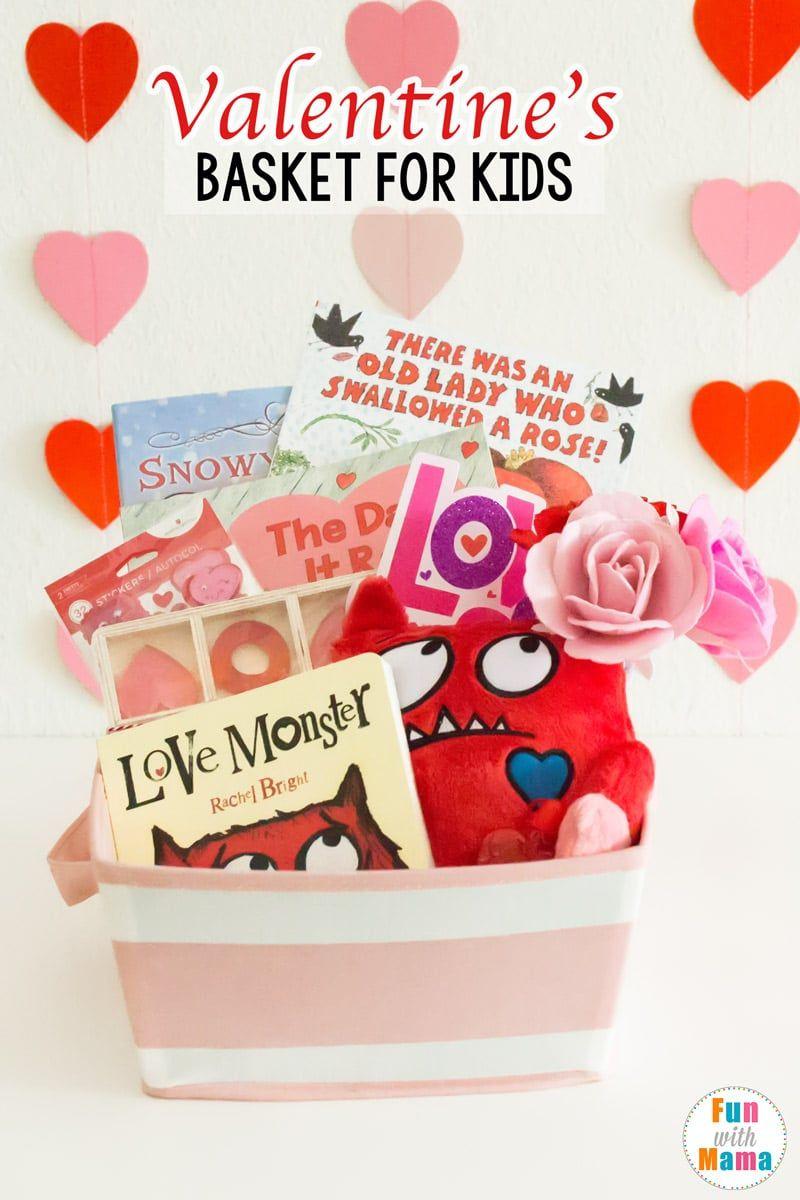 Valentines Basket Valentine S Gifts For Kids Valentine S Day