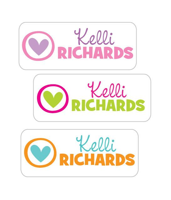 Personalized waterproof stickers school name labels for