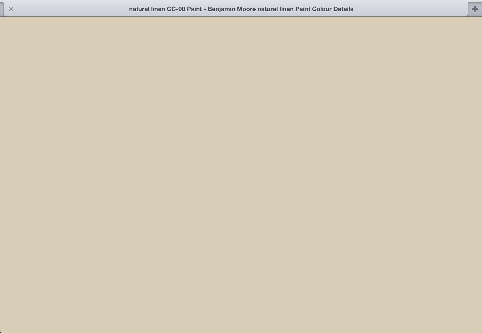 Benjamin moore natural cream - Natural Linen Cc 90 Benjamin Moore