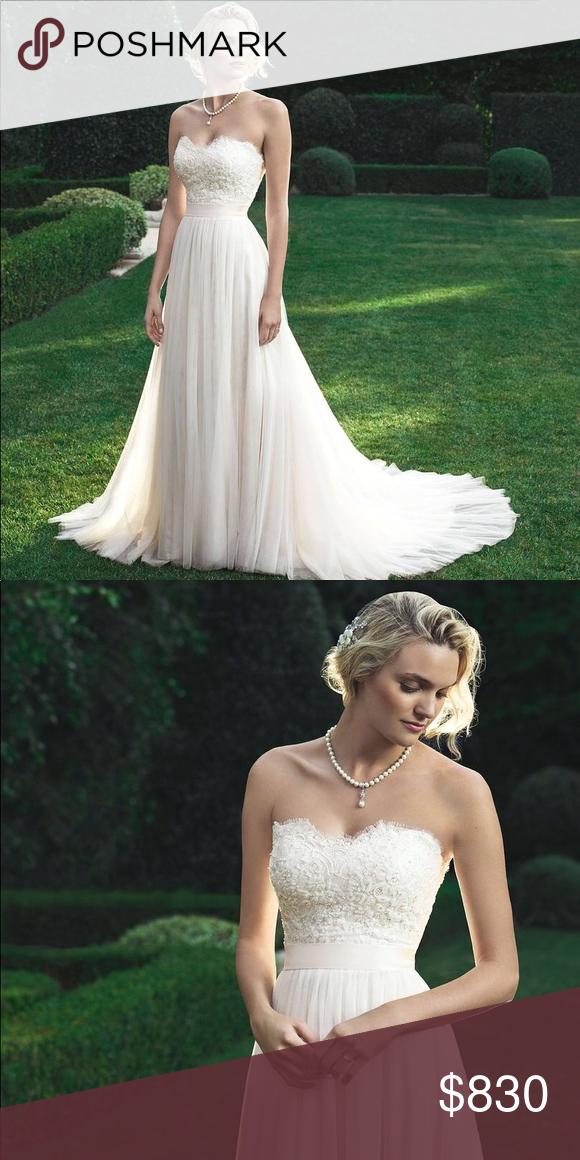 Casablanca 2205 Wedding Dress Baby Doll Silhouette Shaped Gown