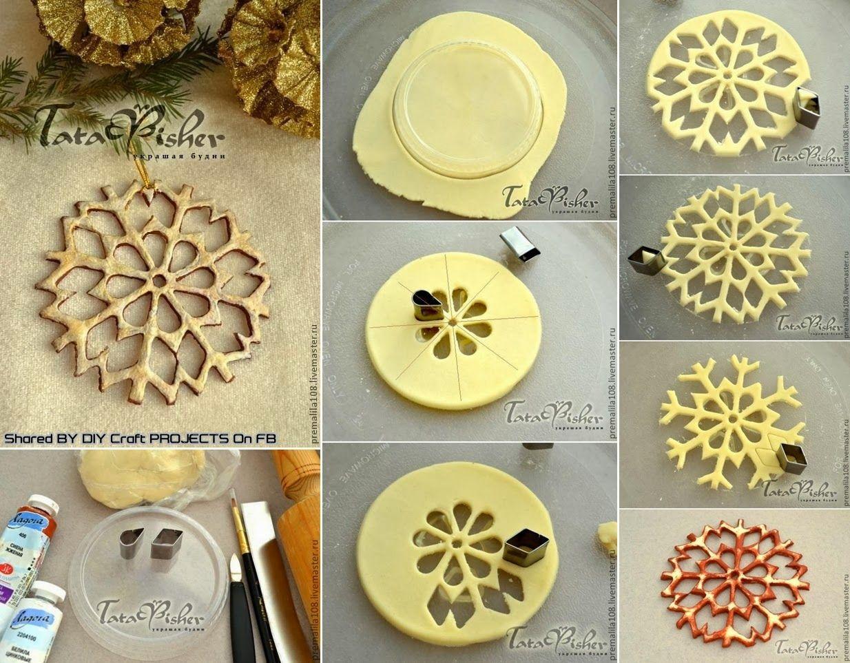 DIY Salt Dough Snowflakes