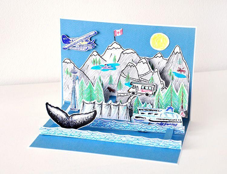 kanada pop up karte mit pilot kreativ miss red fox favourite diys kanada karten und pop up. Black Bedroom Furniture Sets. Home Design Ideas
