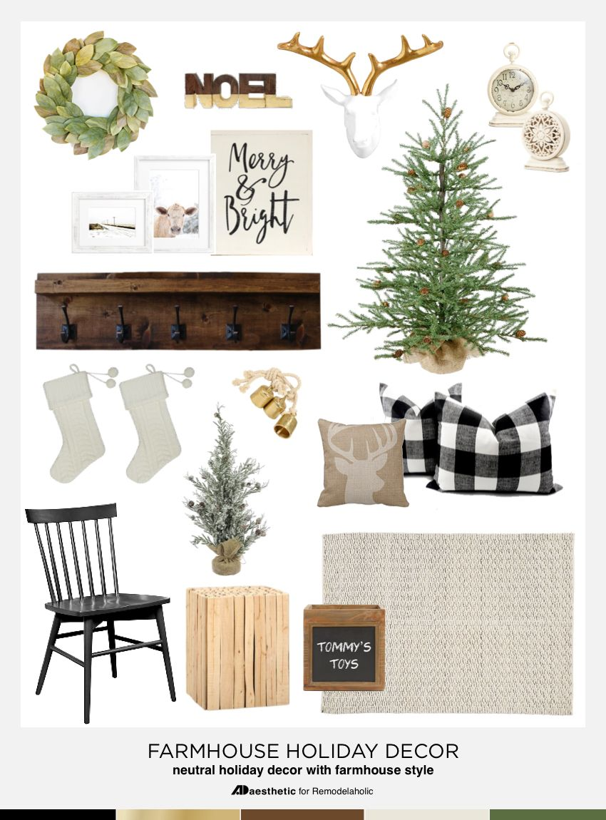 Neutral farmhouse holiday inspiration holidays inspiration and
