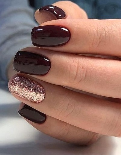 37 Lighter Warm Brown Nails Are Very Lovely Molitsy Blog Squoval Nails Classy Nail Designs Short Square Nails
