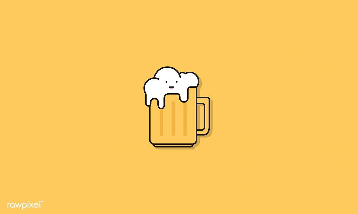 Illustration Of A Glass Of Beer Icon Free Image By Rawpixel Com Beer Icon Beer Illustration Beer
