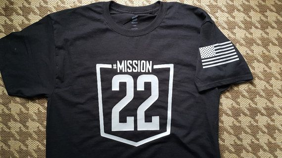 Check out this item in my Etsy shop https://www.etsy.com/listing/294842189/mission22-t-shirt-mission22