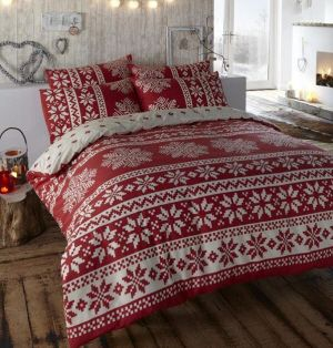 Reindeer Christmas Quilt Cover Set