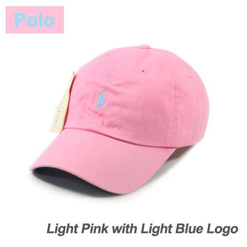 649f4ad5a50 Light Pink Cap Small Light Blue Logo Polo Baseball Hat SP69 Golf ...