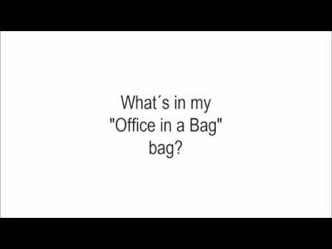 """It´s Video Time!!! What´s in my """"Office in a Bag"""" bag? by The Organized Cardigan"""