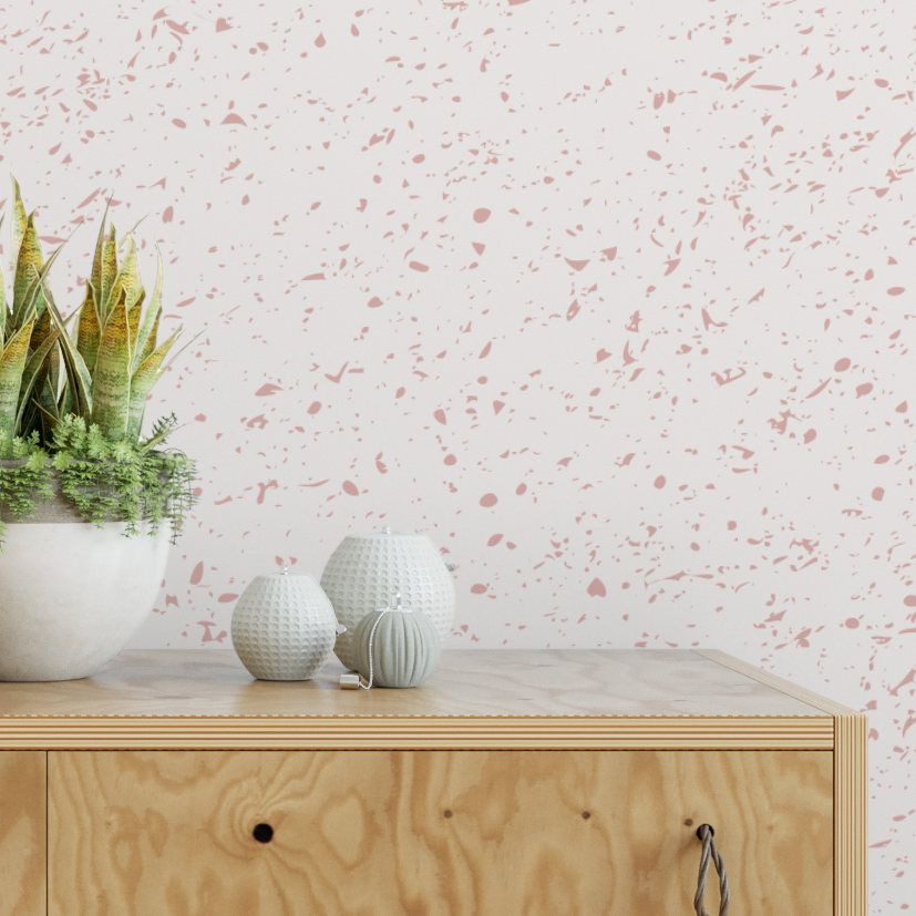 Pink Speckle Removable Wallpaper Cute Self Adhesive Ii